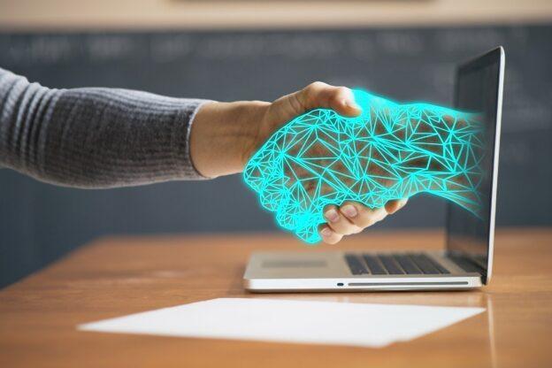 handshake between human and robot